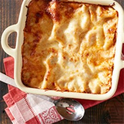 Four Meat Ragu Lasagna Recipe - Your family will have a new holiday tradition with one bite of this hearty, feel-good dish from Gaby Dalkin of What's Gaby Cooking.