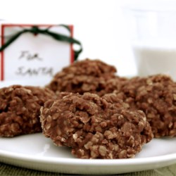 No Bake Cookies V Recipe - An easy cookie for kids to make. Cocoa, peanut butter, and oatmeal make a chewy delicious cookie with some nutritional value.
