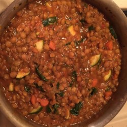 Moroccan Lentil Soup with Veggies Recipe - Soups are ideal for breaking your fast during Ramadan. This Moroccan-style lentil soup features plenty of vegetables for a hearty and tasty meal.