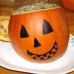 Dinner in a Pumpkin