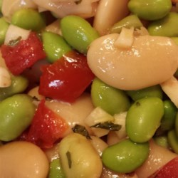 Fava and Butter Bean Salad  Recipe - Chef John's quick and easy recipe for fava and butter bean salad with mint is a refreshing crowd-pleaser.