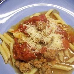 Pasta with Hot Sausage Sauce