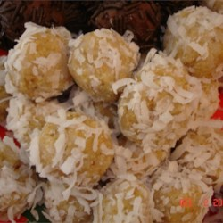 Coconut Rum Balls Recipe - These are incredibly sweet and wonderfully crunchy. Make them ahead. They taste even better after a few days.