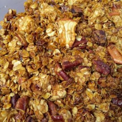 Apple Pie Granola Recipe - Apples, pecans, and raisins are baked with oats, butter, and brown sugar creating apple pie granola that tastes just like apple pie.
