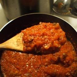 My 1st batch of homemade sauce