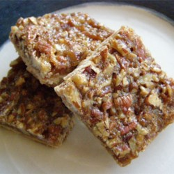 Pecan Pie Bars I Recipe - Great for the children and adults in the family. Originally submitted to ThanksgivingRecipe.com.