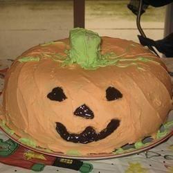 Pumpkin Shaped Pound Cake