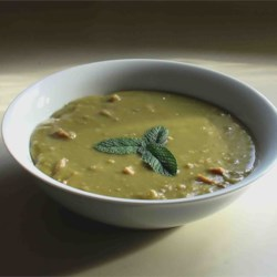 Split Pea and Ham Soup I Recipe and Video - This is a straight-forward version of a classic soup combines dried split peas with onion and ham.  Variations include adding carrots, celery, or potatoes.