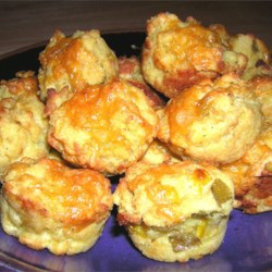Savory Corn Muffins with Green Chilis
