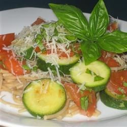 Angel's Pasta Recipe and Video - Light and delicate vegetarian pasta entree that's easy!