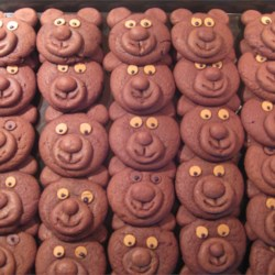 Chocolate Teddy Bear Cookies Recipe - This recipe results in chocolate cookies shaped like teddy bears.