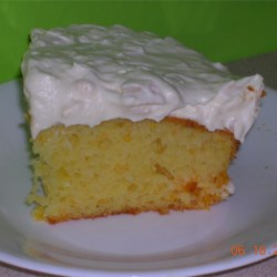 Quick Sunshine Cake Recipe - This recipe was given to me by a friend with whom I exchange recipes.  It is so moist and good.  Being a nurse,  I am always looking for quick easy recipes.