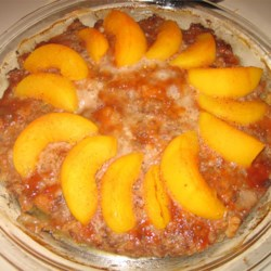 Beef Peach Pie Recipe - A meatloaf with a twist.  The peaches add a sweet touch and go well with the ground beef.