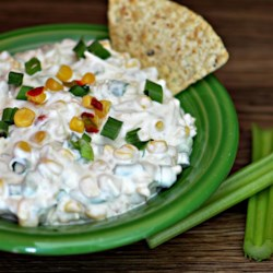 Jalapeno Corn Dip Recipe - Use Mexican-style canned corn, cream cheese, canned green chiles, and fresh jalapeno pepper to make this dip reminiscent of jalapeno poppers.