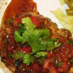 Grilled Chicken Breasts with Fresh Strawberry Salsa