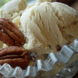 Butter Pecan Ice Cream Recipe - Pecans and brown sugar are featured in this simple cooked custard ice cream. You will need a chilled ice cream maker to make this recipe.