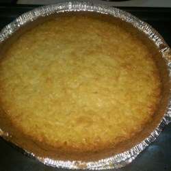 Grandma's Coconut Pies Recipe - This recipe makes two 9 inch pies of delicate buttermilk custard with coconut.