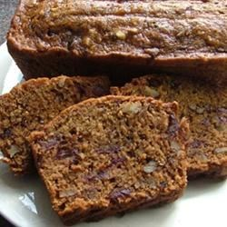 Date Nut Loaf Cake Recipe - An easy and quick date nut loaf served with a warm brown sugar sauce.