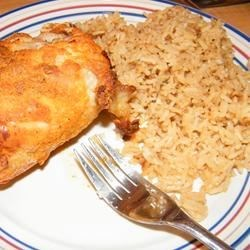 Brazilian White Rice and Paprika Parmesan Chicken