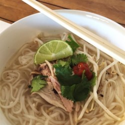Day After Thanksgiving Turkey Pho Recipe - With the addition of fragrant spices and rice noodles, leftover turkey noodle soup gets a Vietnamese makeover.