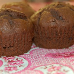 Fudgy Chocolate Chip Muffins