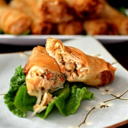 Cha Gio Vietnamese Egg Rolls Recipe - This traditional Vietnamese egg roll recipe makes a crispy, delicate hors d'oeuvre with flavors of pork, shrimp, shiitake, and fish sauce.