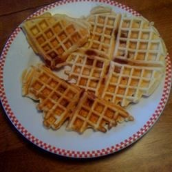 Corned Beef Waffles Recipe - Here is a family favorite recipe that while it sounds strange is very tasty and has won over everyone who has tried it. It was born out of wartime in the Philippines we believe.  Typically served for breakfast with butter or margarine.  Not a sweet waffle.  Best in a standard waffle iron (not Belgian).