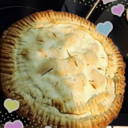 Bob's Pineapple Pie Recipe - A double crust pie is filled with a creamy pineapple egg custard.