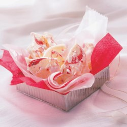 Peppermint Bark from McCormick(R) Recipe - Smooth white chocolate and refreshing peppermint combine in a candy-striped confection that looks and tastes like the holidays.