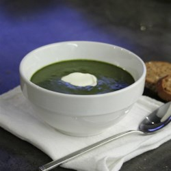Cauliflower Stalk Puree with Spinach - the Super Soup Recipe - Cauliflower stems and leaves make a hearty base for this creamy soup with spinach; top with Parmesan cheese and parsley for extra flavor.