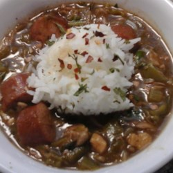 Turkey Gumbo Recipe - A traditional turkey and smoked sausage gumbo is a delicious use for leftover turkey.