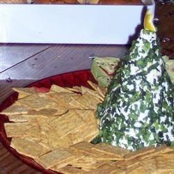 Cream Cheese, Havarti and Parmesian Herbed Christmas Tree