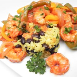 Tiger Prawn Special Recipe - These prawns are delicious served over a bed of rice and black beans.