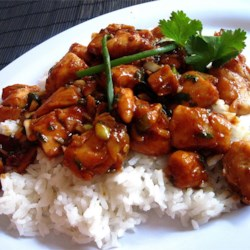 Kung Pao Chicken Recipe - Put some spice in your life with this restaurant favorite: chicken and peanuts in soy-sesame sauce with hot chili paste.