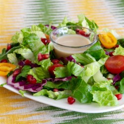 Yummy Pomegranate Vinaigrette Dressing Recipe - This tangy and refreshing pomegranate vinaigrette is ready in minutes, and goes great on any green or grain salad.