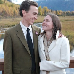 our wedding day in Alaska