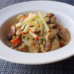 Creamy Pork Stew Recipe - This creamy pork stew is the perfect cold-weather dish, and so versatile you can use your favorite seasonal vegetables. Serve over steamed rice, mashed potatoes, or noodles.