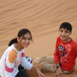 me and my brother in d desert!