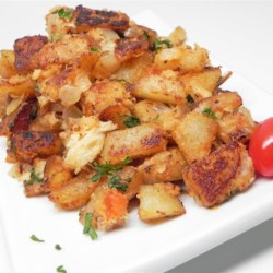 Crab Hash With Old Bay & Basil Recipe - Hash makes a fast brunch or even light supper dish. This variation is made with canned crab, onion, and plenty of potatoes, and is seasoned with fresh basil, Old Bay seasoning, ketchup, and Dijon mustard.