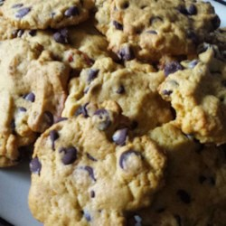Persimmon Chocolate Chip Cookies Recipe - The heady combination of persimmon and chocolate come together in this elegant chocolate chip cookie recipe. Choose overripe fruit for best results.