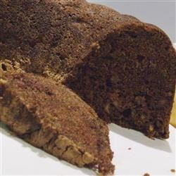 Chocolate Chip Apple Cake Recipe - Apples add moistness to the spicy chocolate batter and chocolate chips further enhance the chocolate flavor.