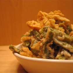 Grandma's Green Bean Casserole Recipe and Video - Easy, creamy green bean casserole that doesn't use canned soup. Make it for Thanksgiving or any festive family dinner.