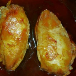 Texas Hickory BBQ Chicken Recipe - Chicken leg quarters are slow cooked in barbecue sauce on the grill. Barbecued chicken with Texas size hickory smoke flavor.