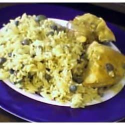 arroz con gandules y pollo