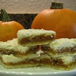 pumpkin shortbread bars