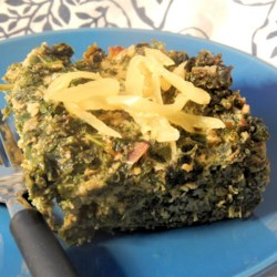 Kale Cakes with Sweet Hot Peppers Recipe - This versatile baked egg and kale dish can be served as a savory breakfast dish or as a main dish at dinner.