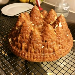 Eggnog Pound Cake Recipe - A sumptuous spiced pound cake, flavored with eggnog, and studded with brandy-soaked fruit.