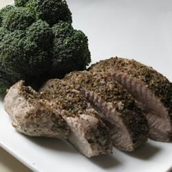 Vini's Pork Roast Recipe - Give a tender pork loin roast a spicy massage with caraway seeds, black pepper, salt and ground sage before roasting it to juicy perfection.