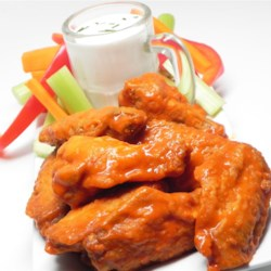 Rule of 3 - Garlic Buffalo Wing Sauce Recipe - Garlic buffalo wing sauce with plenty of garlic powder and butter is a tasty and rich addition to chicken wings.
