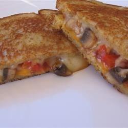 Mushroom and Sweet Pepper Sandwich
